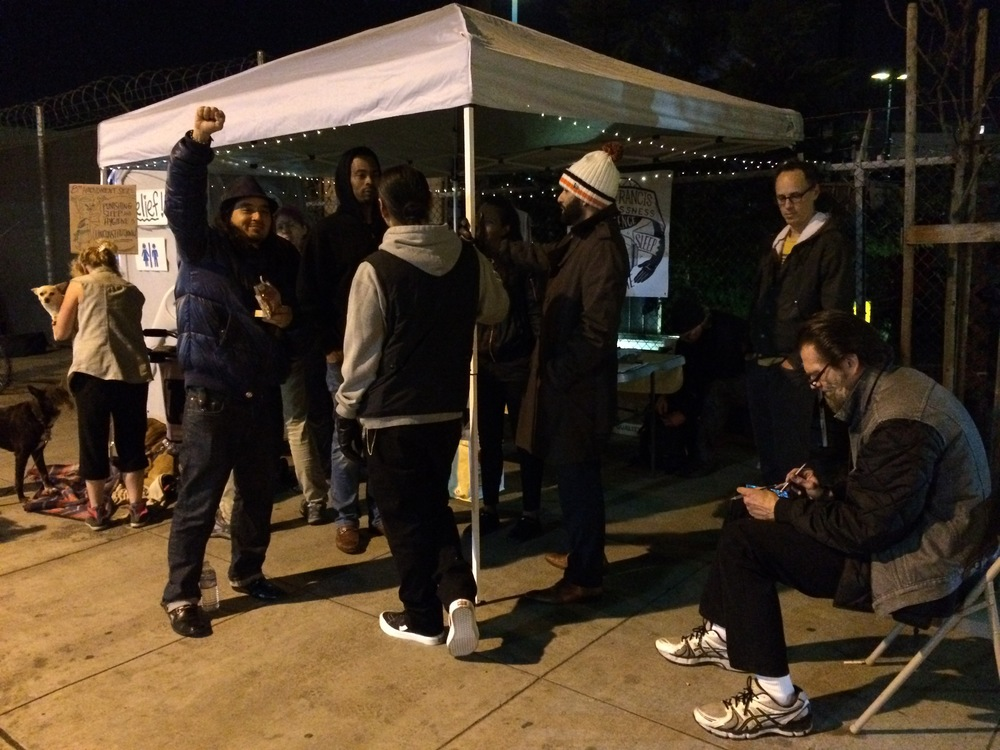 Volunteers at the Division Street Overnight Vigil and Portapotty Service