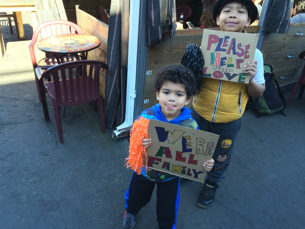 Young volunteers at Saint Francis Super Bowl Sunday event at SoMa StrEat Food Park (2.7.2016)