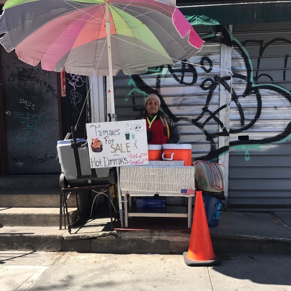 Sonia Perez, vendor and member of the Leadership Board of the Street Vendor Project
