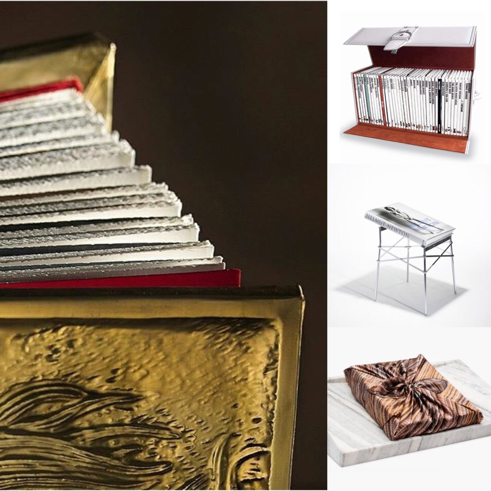 Pieces by D'Oro, Assouline and Taschen.