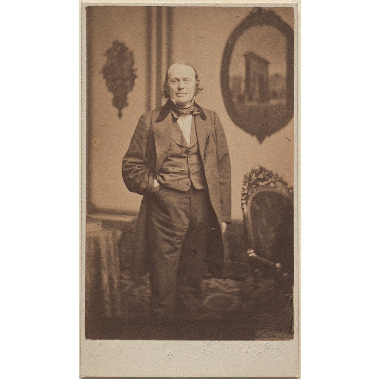 Jean Louis Rodolphe Agassiz, by John Adams Whipple, Albumen silver print, c. 1860. Collection of the National Portrait Gallery, Smithsonian Institution.