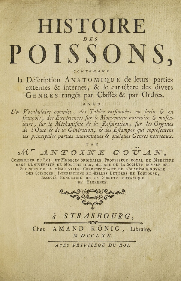 1770 Histoire des Poissons in Latin and French