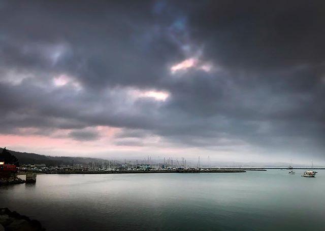 Pastels... . . . . . . #sunset #pastelsunset #color #pastel #clouds #cloudyskies #pinksky #halfmoonbay #marina #sailboats #sfbayarea #bayarea #ocean #pacificocean #landscapephotography #shotoniphone #coastalphotography #california #caloforniacoast