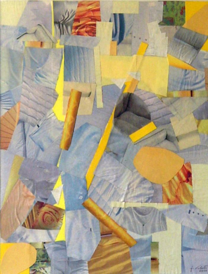 Composizione   Collage  35 x 27.5 cm  2001