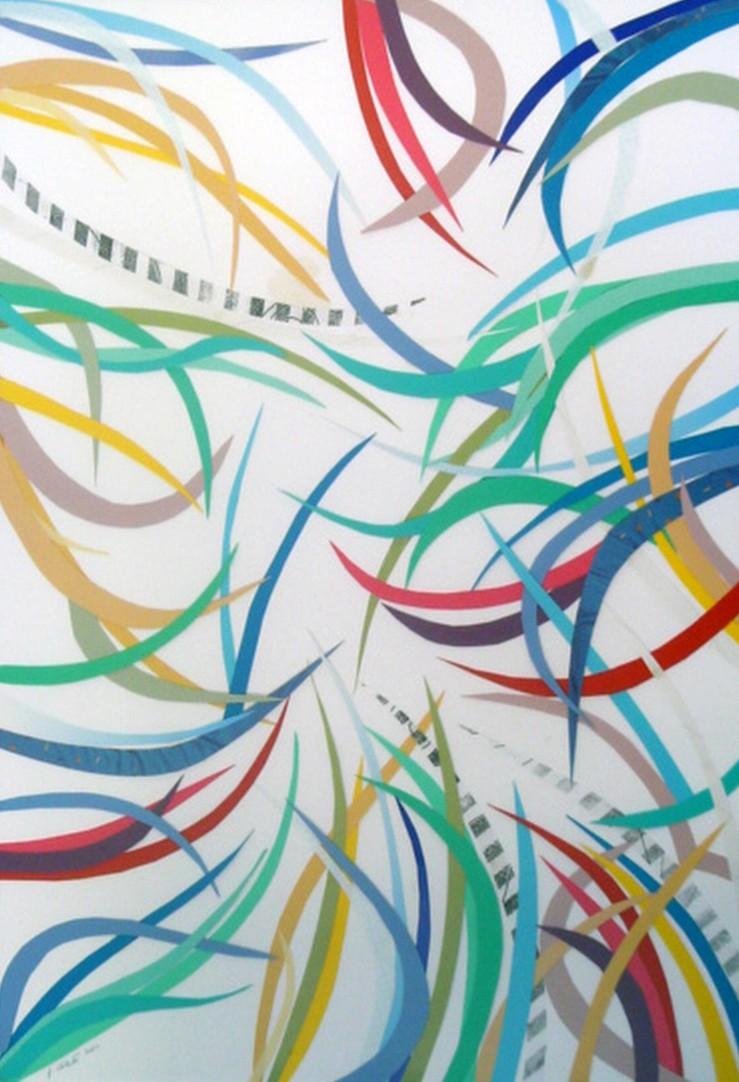 Composizione decorativa   Collage  50 x 70 cm  2001