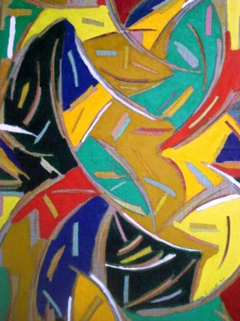 Dinamismo   Acrilico su cartone pressato  50x70 cm  2006