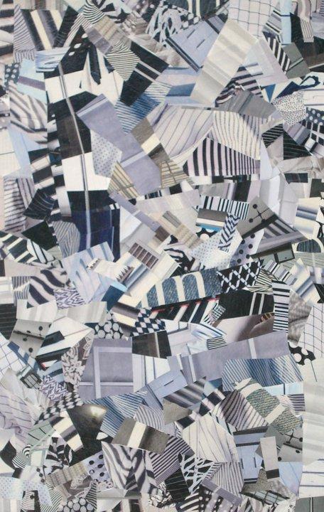 """""""Bianco e nero""""   Collage su tela  50x70 cm  2009"""