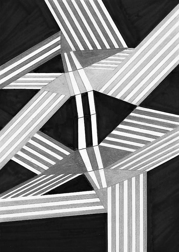 Versione monocromatica   Tecnica mista su cartoncino  18x25 cm  2016