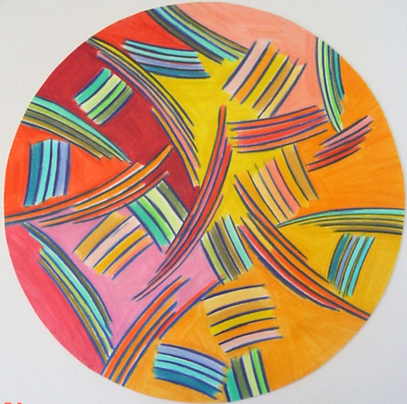 Composizione colorata   Matite colorate  Ø 33.5 cm  2001