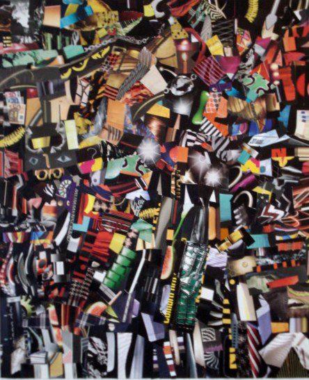 Ritagli di vita quotidiana  60x70 cm  Collage su tela  2011