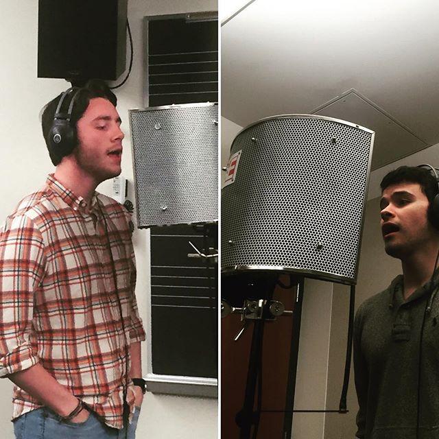 The boys are back in the studio! #CayugasWaiters #CW #liquid5th #acappella