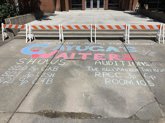 Fresh chalkings are down all over North Campus!! Come check out our O Week Arch Sings tonight at CKB at 8 pm, and tomorrow at CTB at 9 with an afterparty to follow! Hope to see you there!