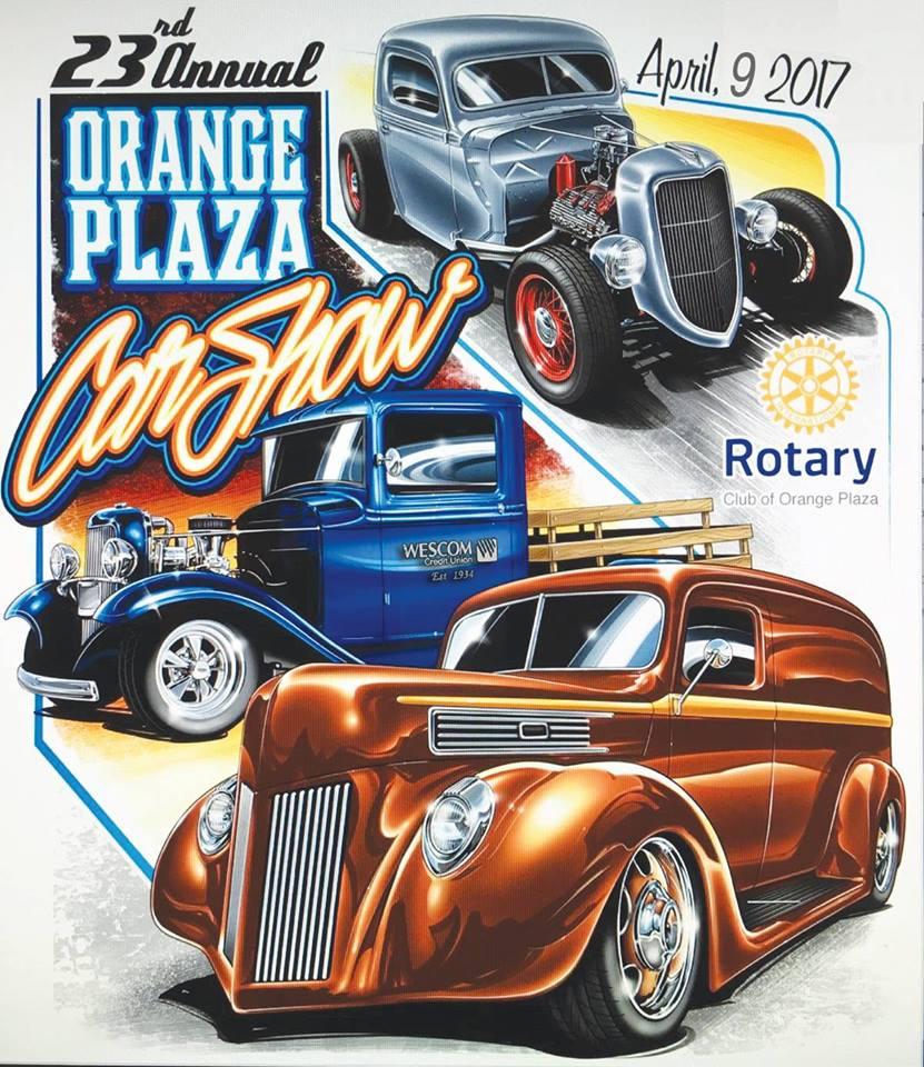 23rd Annual Orange Plaza Car Show April 9 2017