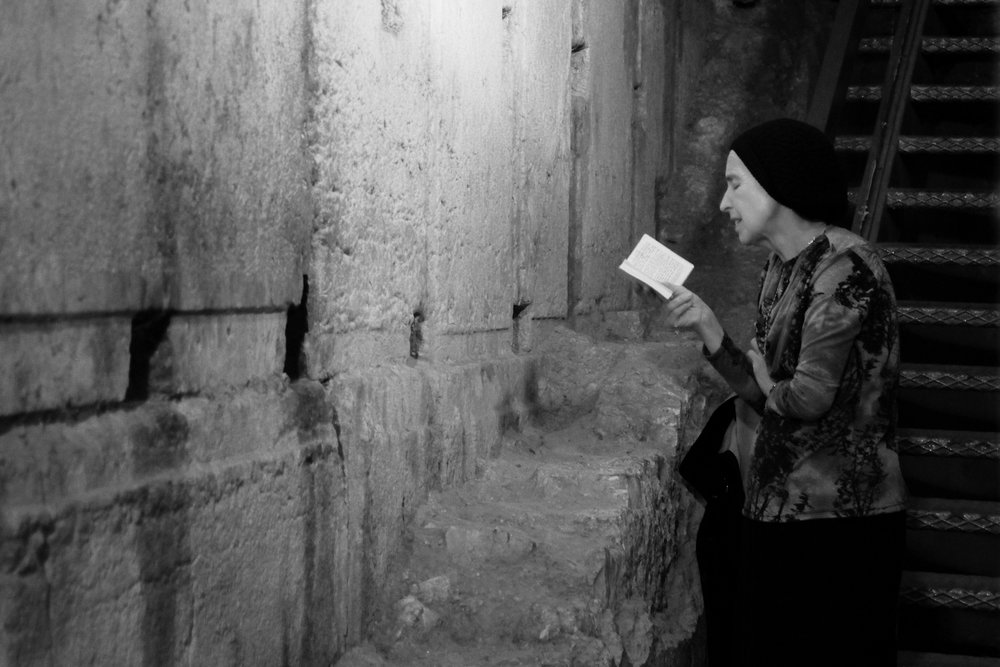 There is a passageway beneath the city streets that brings you even closer to the most western portion of the wall. Many Jews find there way here, as this woman did. We passed here as we came in and hours later passed her again as she devotedly recited from the Torah.