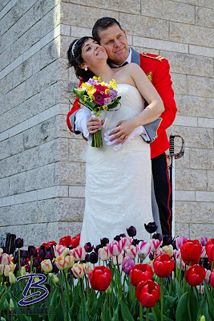 Roksana and Greg on their Wedding Day
