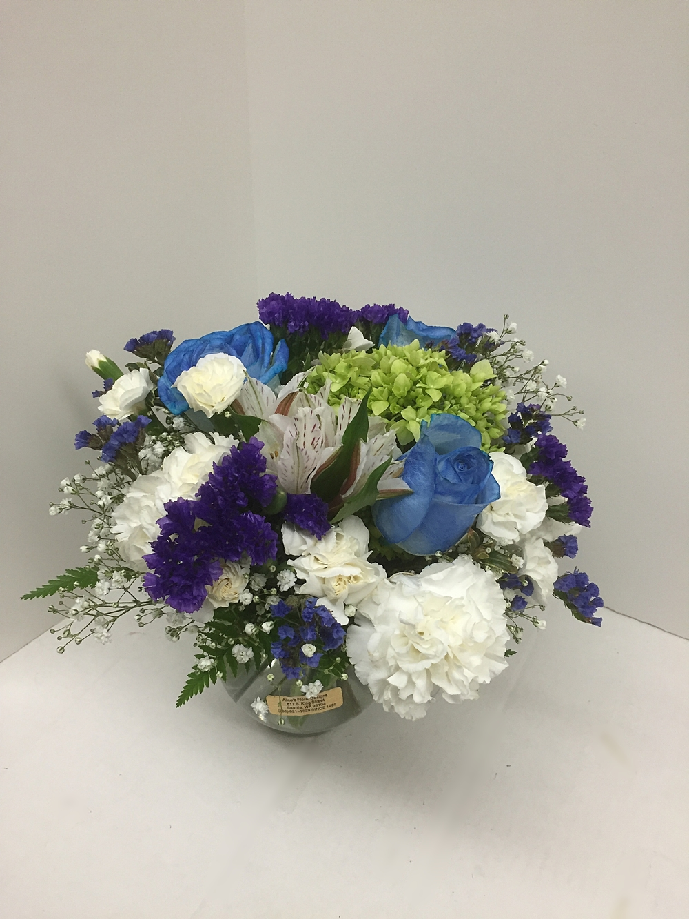Dip of Blue Centerpiece
