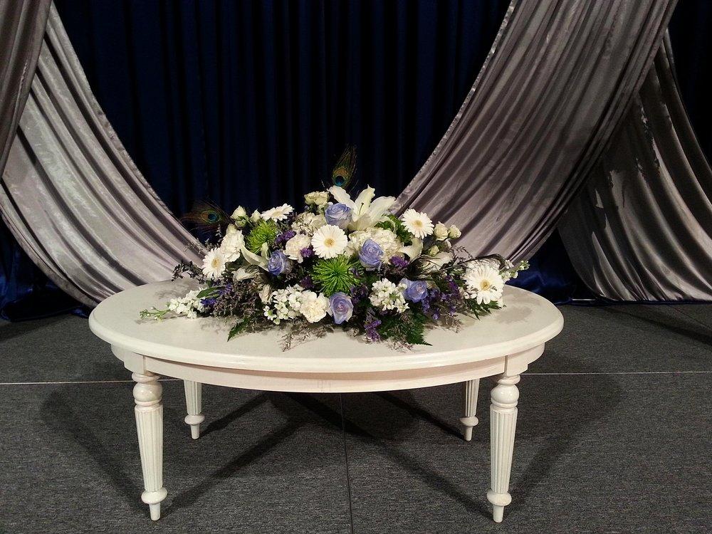 Blue Romance Centerpiece