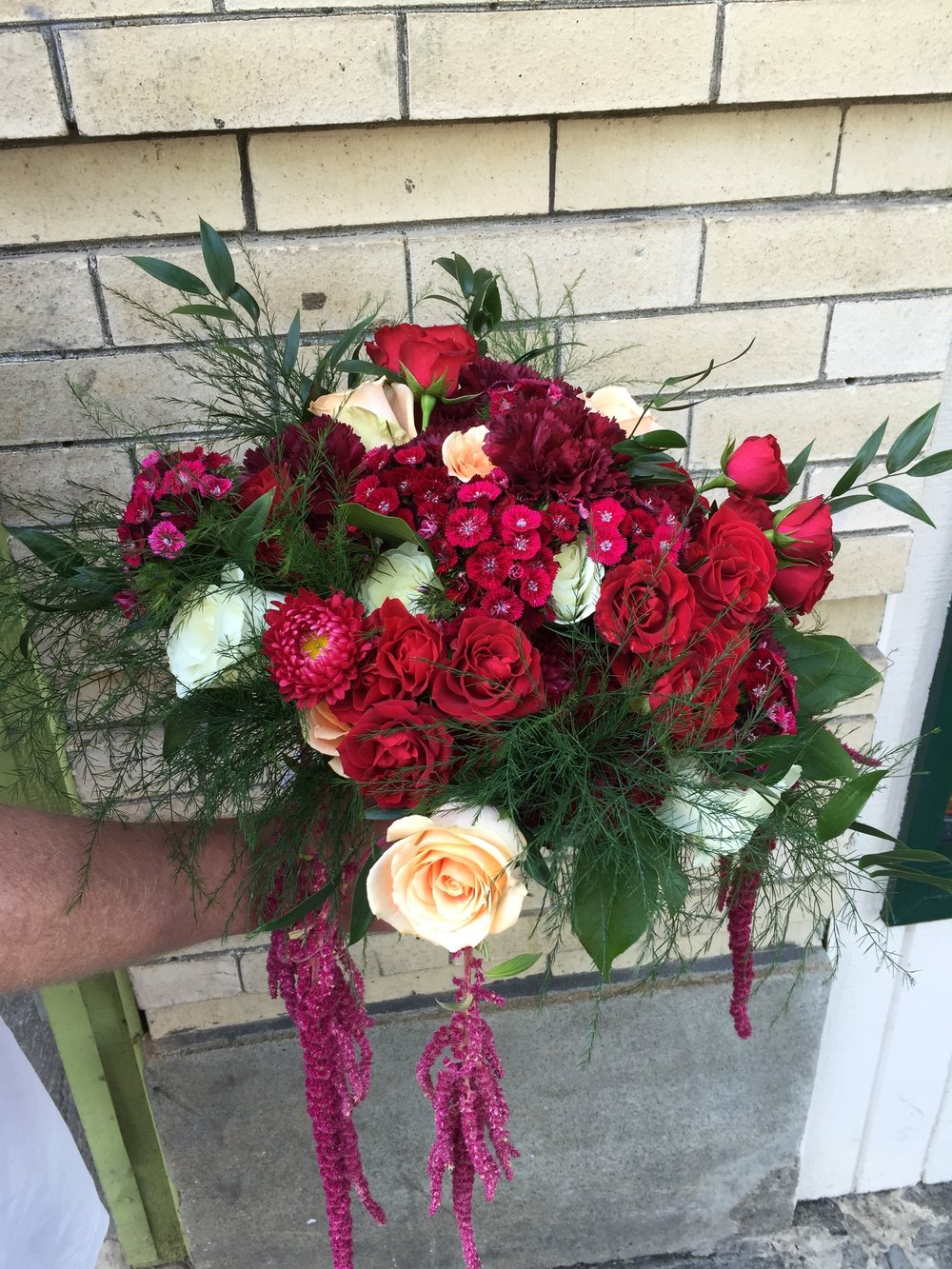 The Reds Bridal Bouquet