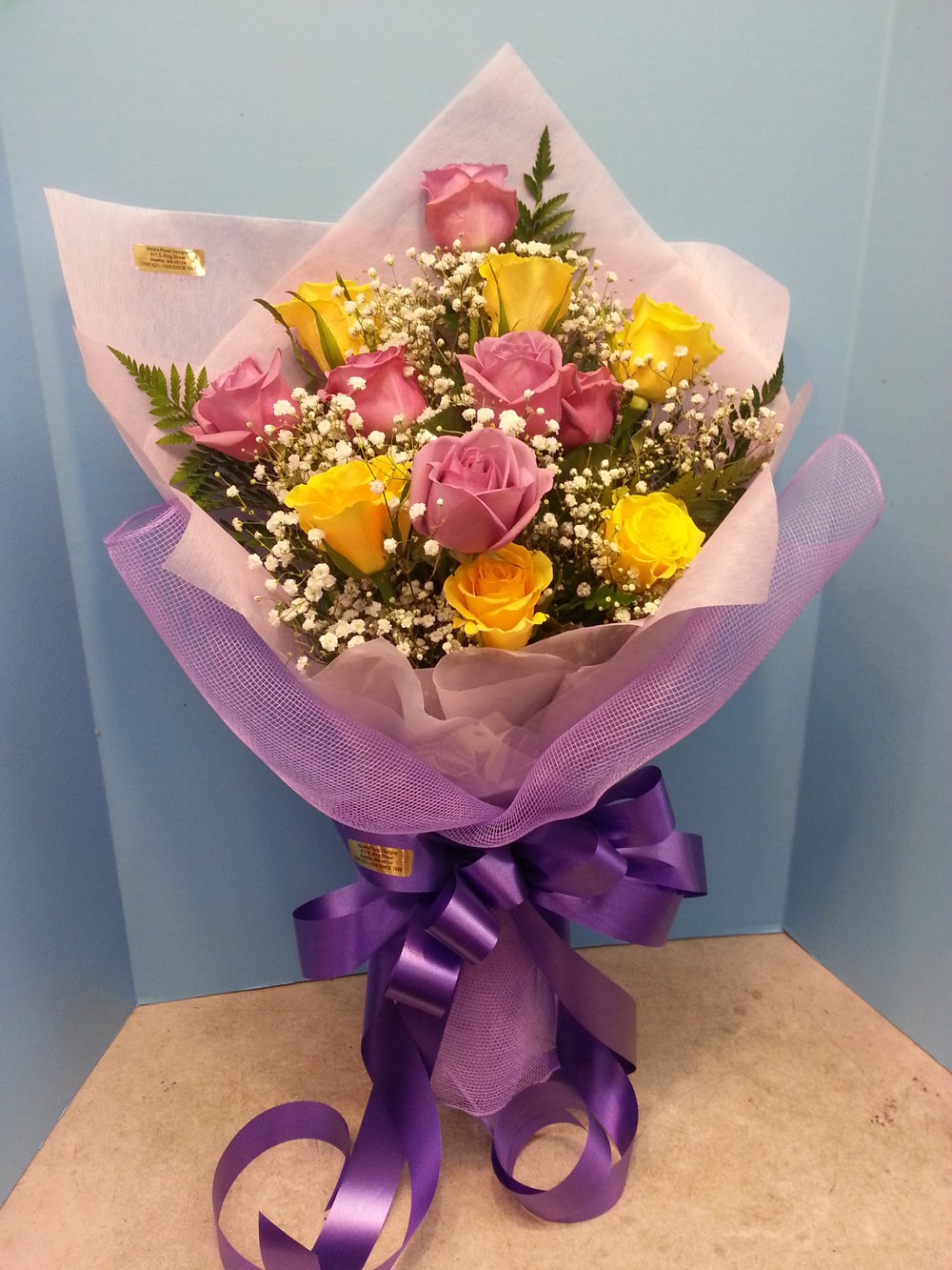 Yellow & Lavender Roses (WB-11)