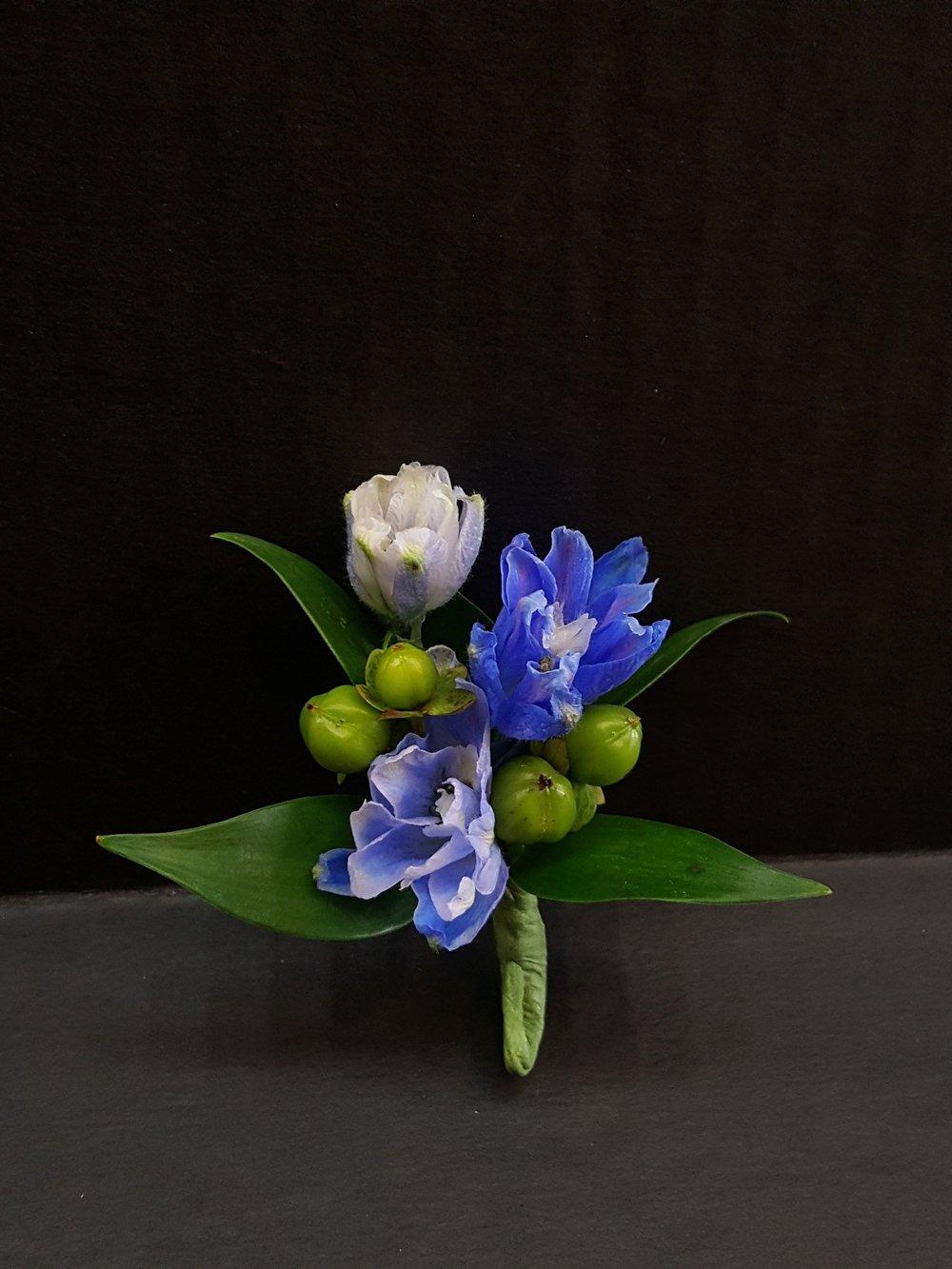 Blue Delphinium & Berries