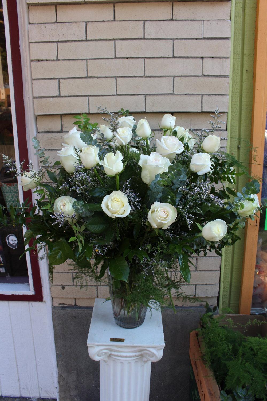 3 Dozen White Roses