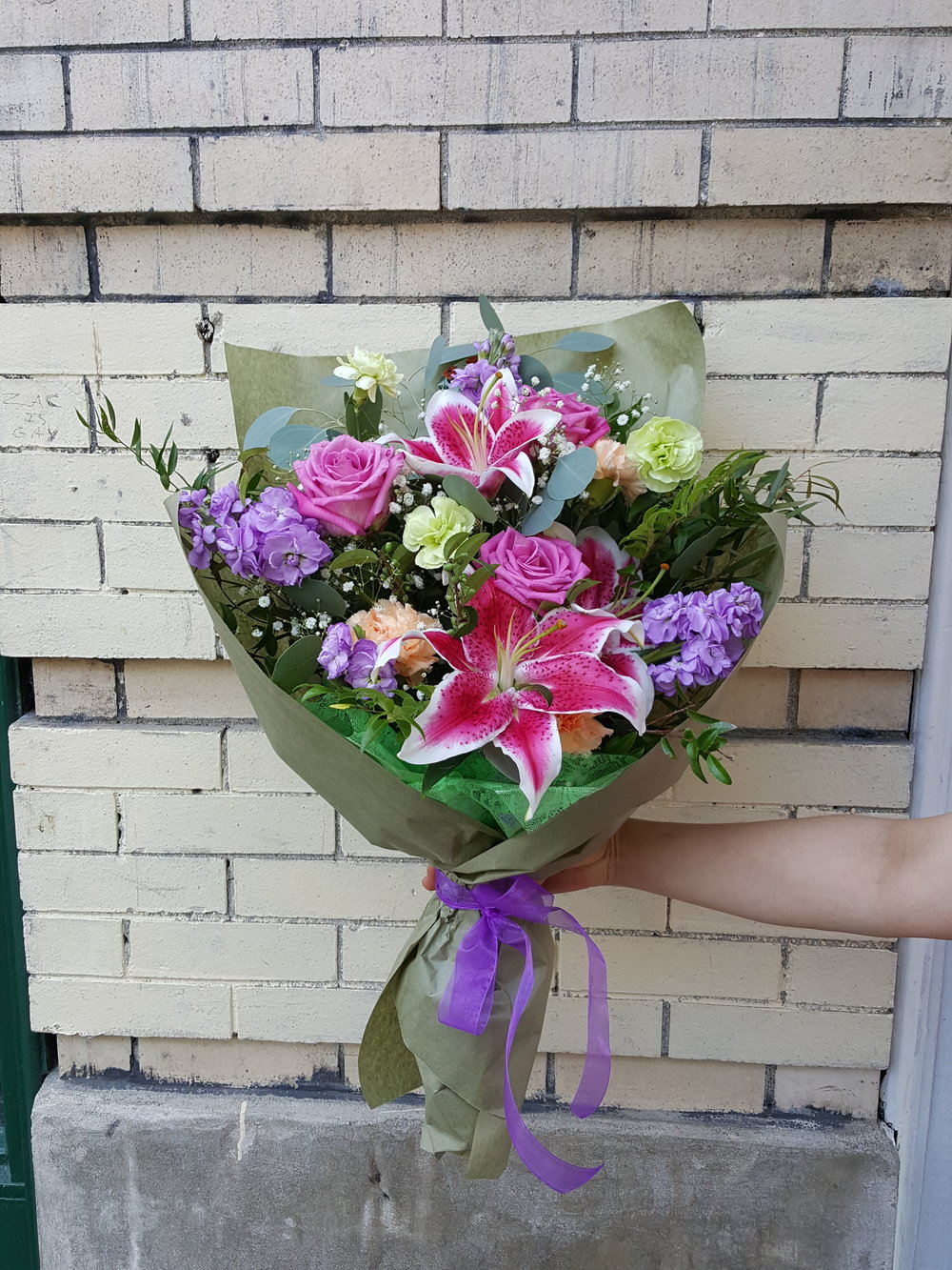 Garden Wrapped Bouquet (WB-12)