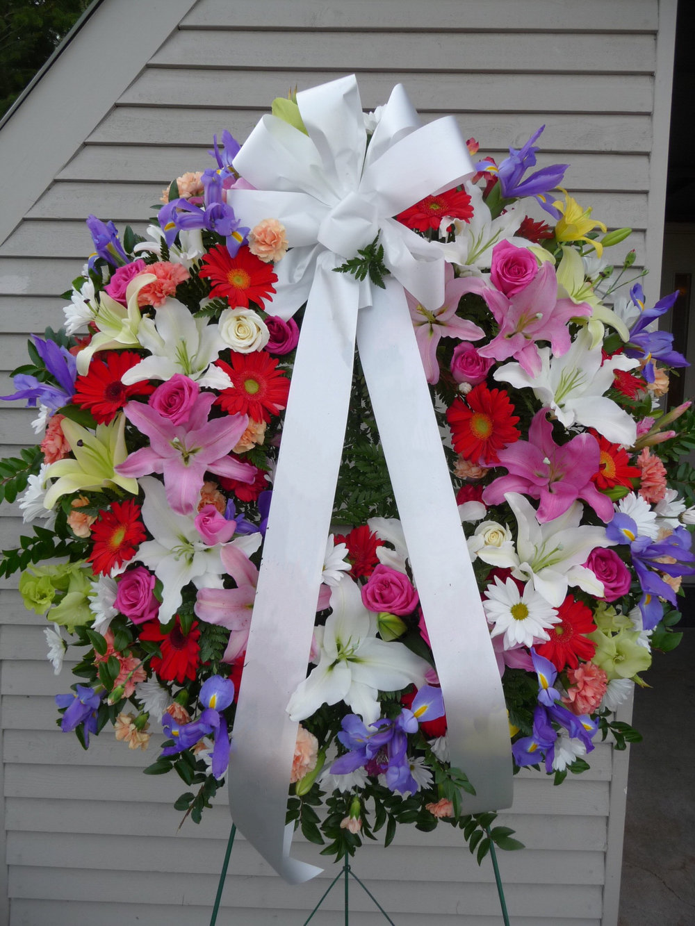 Lilies & More Wreath (W-32)