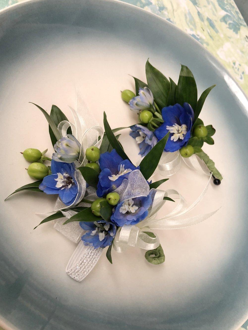 Blue Delphinium Set