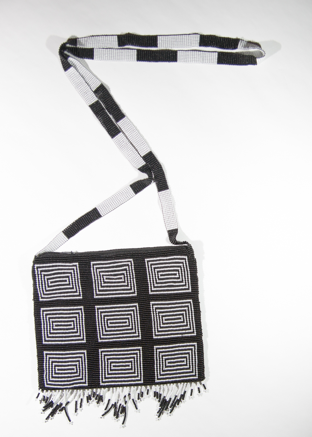 Black and White blocks purse   $49.00