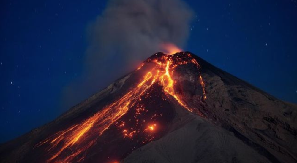 Eruption of Volcan De Fuego on June 3, 2018