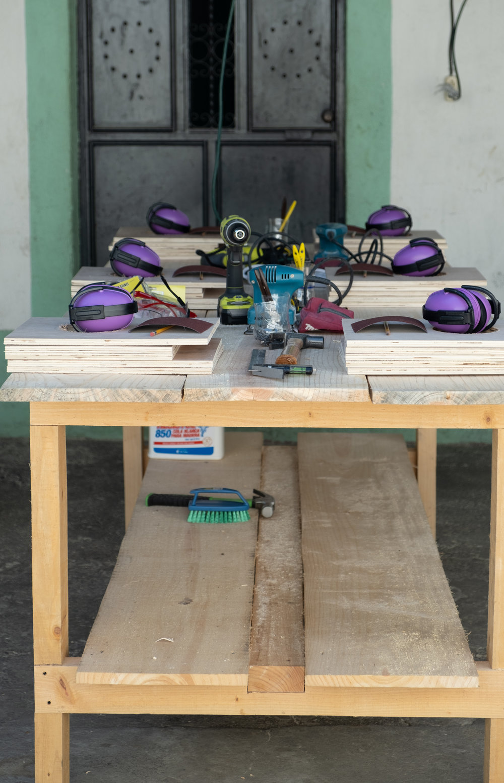 Workbench ready for the kids