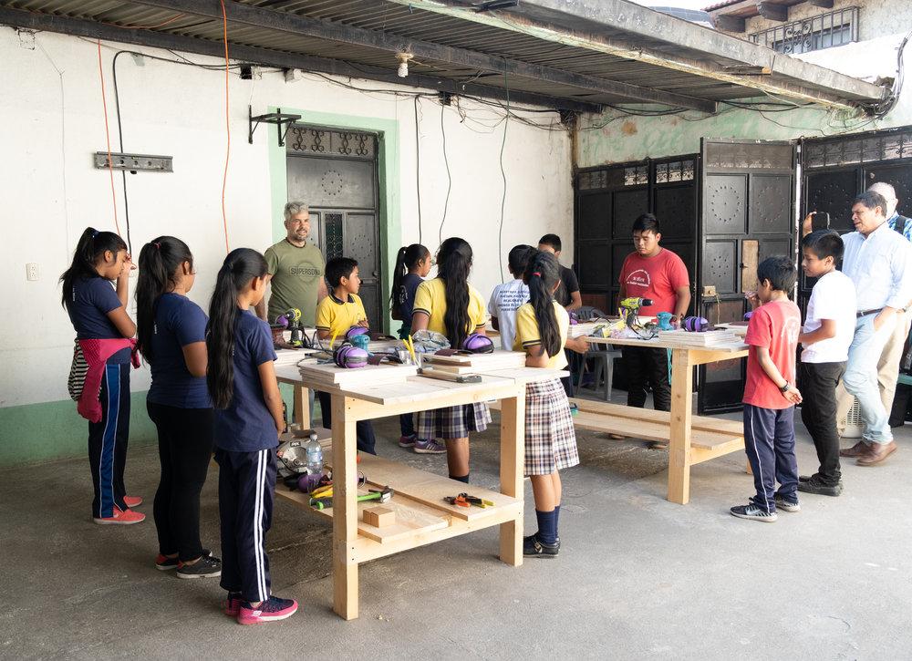 First carpentry class