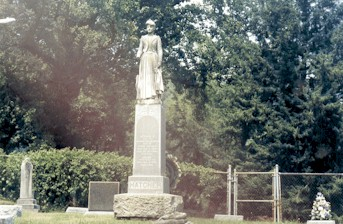 Olivia Hatcher's Monument (Courtesy of Prairieghosts.com)