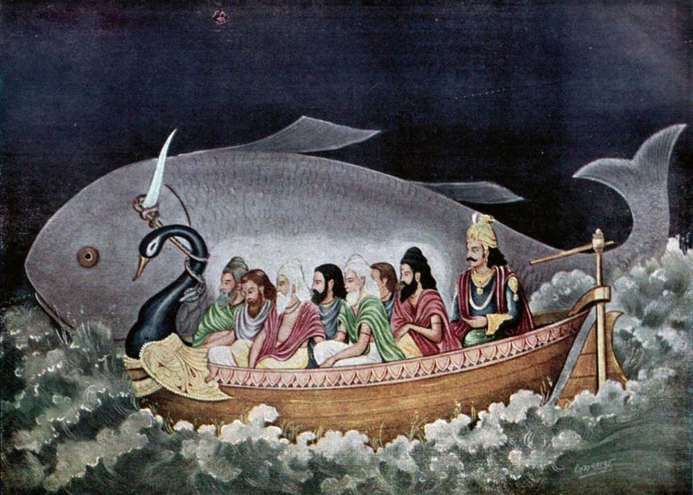 http://www.ancient-origins.net/human-origins-religions/startling-similarity-between-hindu-flood-legend-manu-and-biblical-020318    https://en.wikipedia.org/wiki/Flood_myth