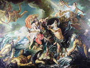 http://www.greekmythology.com/Myths/The_Myths/Titanomachy/titanomachy.html    https://en.wikipedia.org/wiki/Comparative_mythology#Flood_myth
