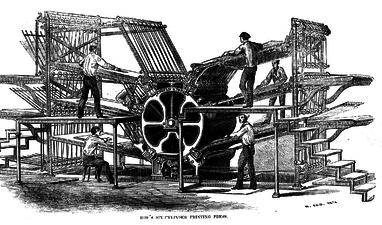 The printing press (Wikipedia)