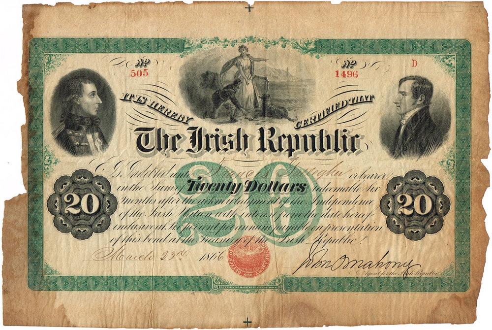 Fenian Bond signed by O'Mahony