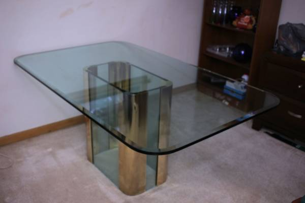 This Glass And Brass Table Is Just Waiting For A Stylish Home To Be A Part