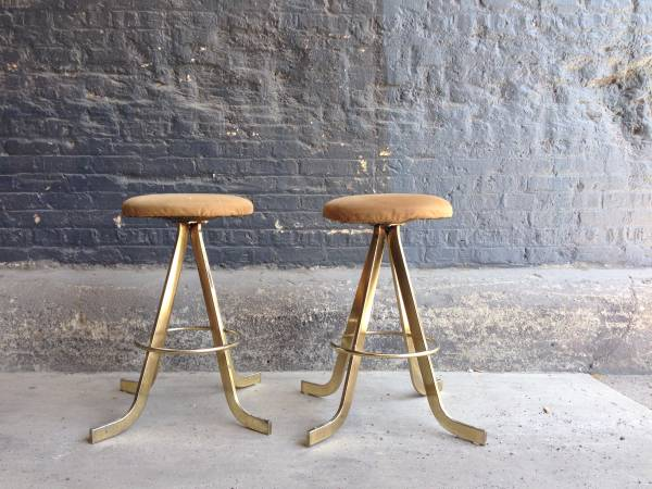 These Stools Need A Quick DIY Recovering And They Are Set For Decades. The  Brass