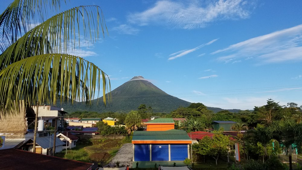 View of Volcan Arenal from Hotel San Bosco in La Fortuna