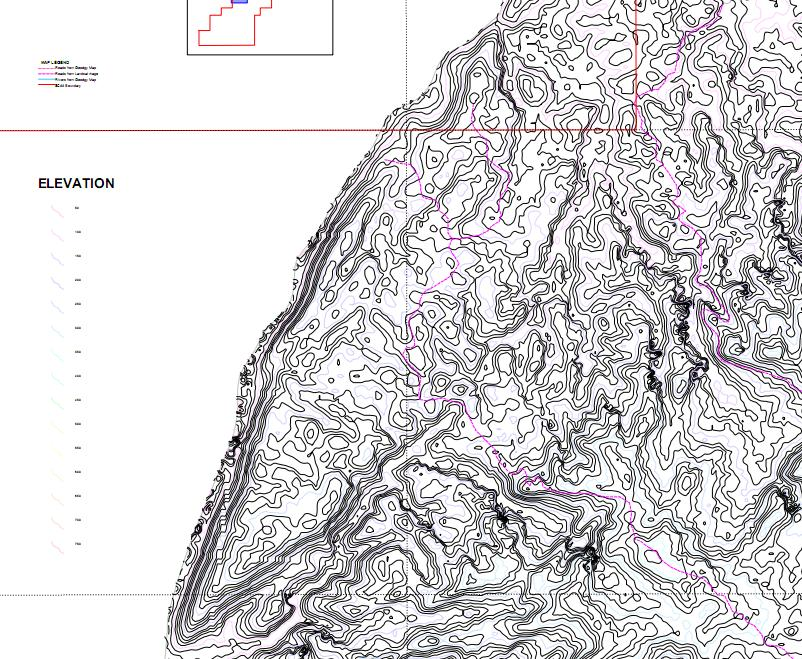 Topographic Map – Aloguinsan Anticlne