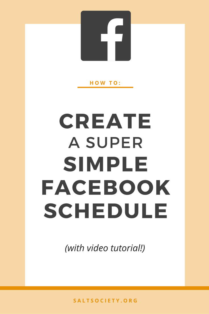 How to set up a simple Facebook schedule that will save you hours of hard work and stress!
