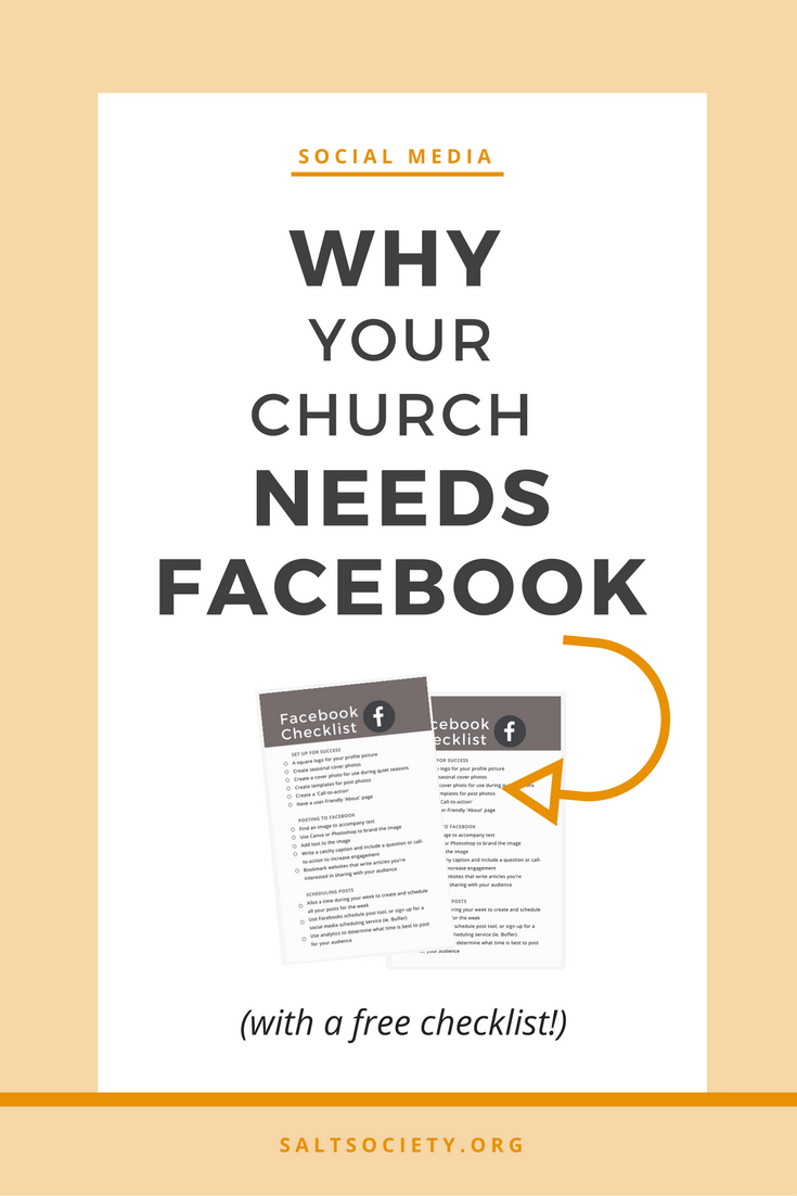Why your church needs Facebook + a free checklist to get you started