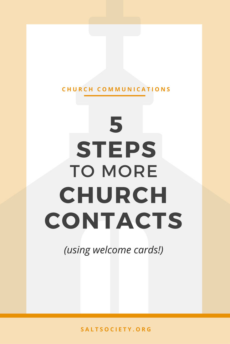 5 steps to more church contacts (using connection cards!)