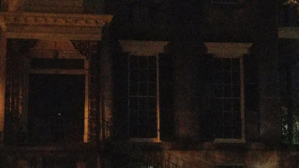 No picture of J Christopher's but here's a pic from the ghost tour we took, supposedly there's a boohag in the image. Can you find her?