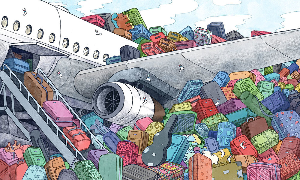The Wall Street Journal Life & Arts - Travel: Lost Luggage? Why Airlines Can Be Slow to Help Art Direction: Manny Velez