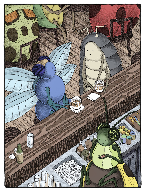 Pillbug Goes to the Bar.jpg
