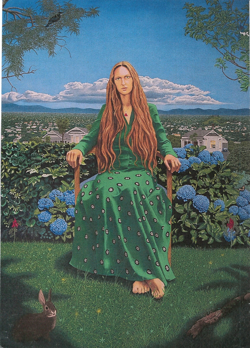 The Empress of Auckland (Charlotte Drinkwater), by Hugh Major, finalist in the Adam Portraiture Award 2016.
