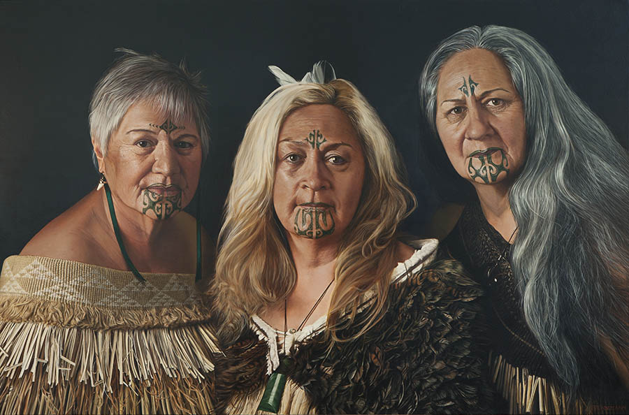 Sisters,  André Brönnimann. Winner of The Adam Portraiture Award 2016.