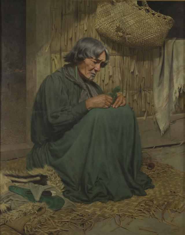 The widow (Harata Rewiri Tarapata, Ngapuhi), 1903, C.F. Goldie